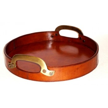 Leather round try-L