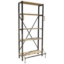 Industrial bookshelf with 4 shelves