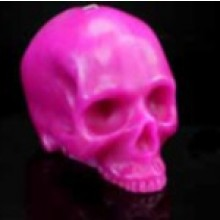 Pink Bright Skull Candles