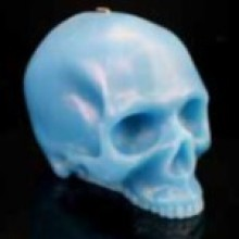 Blue Bright Skull Candles