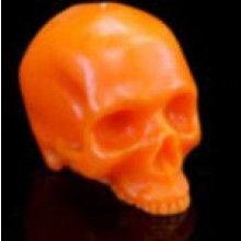Orange Bright Skull Candles