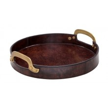 Leather round try-S