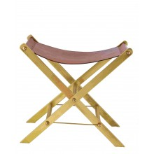 Straits Leather Stool
