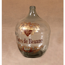Vintage Wine Bottle With Hand-Painted Decoration Of Later Date