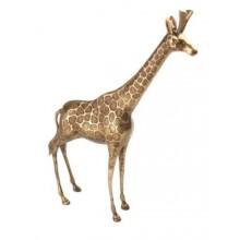 Zoologique giraffe brass