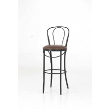Metal Bistro Bar Stool With Wood Seat