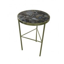 Black Agate Side Table