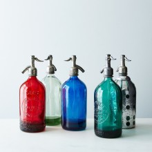 Assorted Graphic Seltzer Bottle 1950S 1 Liter