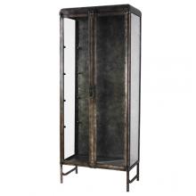 Lucy Two Door Metal Vitrine Cabinet